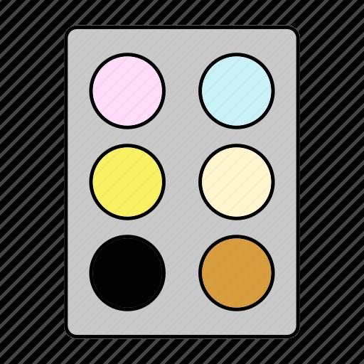 color, cosmetics, paint, palette icon