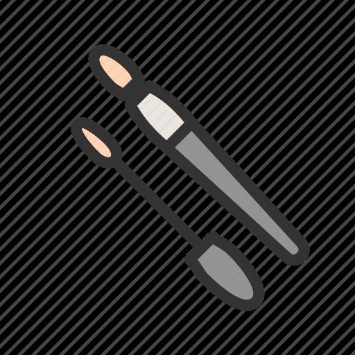 Applying, beautiful, eye, lashes, makeup, mascara, woman icon - Download on Iconfinder