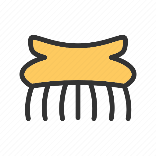 Accessories, clip, clips, fashion, hair, salon, yellow icon - Download on Iconfinder