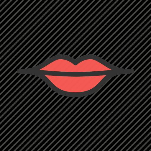 beauty, human, kiss, lips, lipstick, makeup, red icon