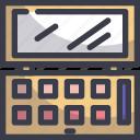 beauty, cosmetics, eye, eyeshadow, makeup icon