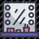 furniture, makeup, mirror icon
