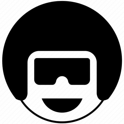 avatar, emotion, face, helmet, man, smile icon