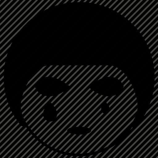 avatar, emotion, face, sad, tears icon
