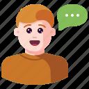 avatar, bubble, chat, communication, message, talk, user