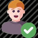 accept, avatar, check, ok, profile, success, user