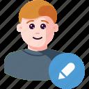 avatar, draw, edit, person, profile, user, write