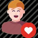 avatar, favorite, heart, like, love, user, valentine