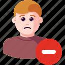 avatar, cancel, delete, minus, profile, remove, user