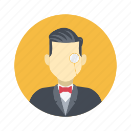 avatar, bow tie, boy, character, class, handsome, male, man, noble, person, portrait, rich, suit, team, team member, testimonial, user, vip icon