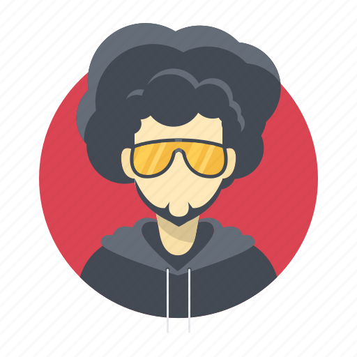 afro, avatar, band, beard, boy, celebrity, character, famous, glasses, handsome, hip hop, hoodie, male, man, person, portrait, rap, singer, star, team member, testimonial, user, vip icon