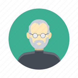 avatar, boy, business, character, clever, glasses, handsome, male, man, mature, old, person, portrait, professional, smart, steve jobs, team, team member, user icon