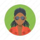 african, avatar, boy, character, customer, fashion, glasses, handsome, hip hop, male, man, mascot, people, rap, rasta, shirt, team member, testimonial, user icon