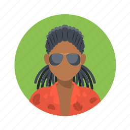 african, avatar, boy, character, customer, fashion, glasses, handsome, hip hop, male, man, mascot, people, rap, rasta, shirt, team member, testimonial, user icon