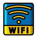 icon, color, wifi icon, paint