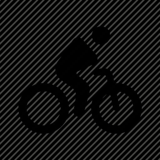 bicycle, bike, rider, riding, wayfinding icon