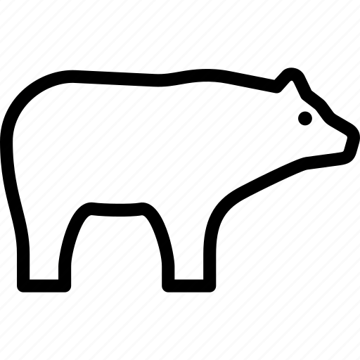 animal, bear, grizzly, wild icon