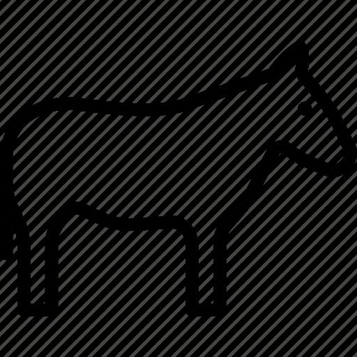 Ass, donkey, jackass, animal icon