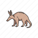 aardvark, african ant bear, animal, anteater, cape anteater, earth pig, mammal icon