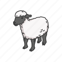 animals, domestic sheep, lamb, mammal, ovis, sheep icon