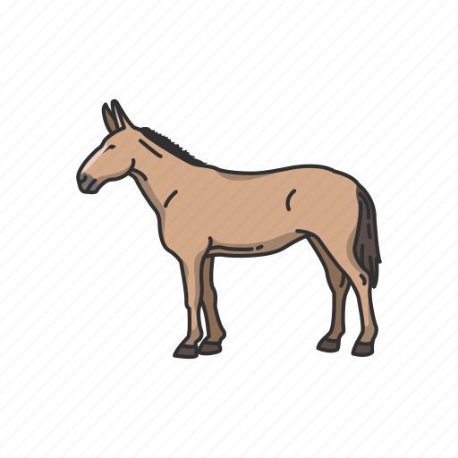 Animals, domestic animal, donkey, horse, mammal, mule icon - Download on Iconfinder