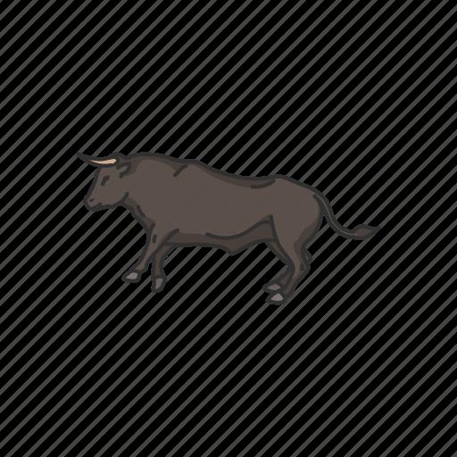 animals, beef, bos taurus, bull, bull horns, mammal, ox icon