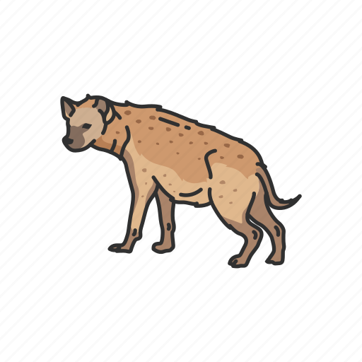 Aardwolf, animals, feline, hyena, invertebrate, mammal, scavenger icon - Download on Iconfinder