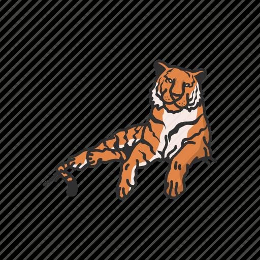 animal, cat, feline, largest cat, mammal, panther, tiger icon
