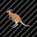 animal, female kangaroo, joey, kangaroo, mammal, wallaby, wallaroo icon