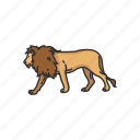alpha, animals, feline, lion, mammal, panther, predator icon