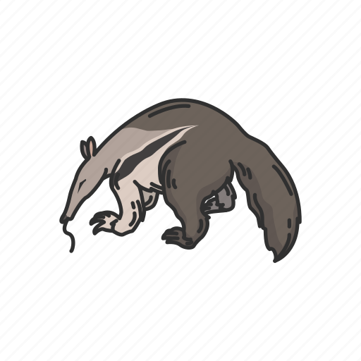 Animals, anteater, giant anteater, mammal, solitary mammals, worm tongue icon - Download on Iconfinder