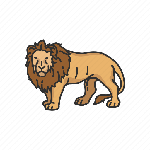 alpha, animals, feline, lion, mammal, panther, predator icon