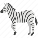 african, horse, plains, safari, striped, stripey, zebra icon