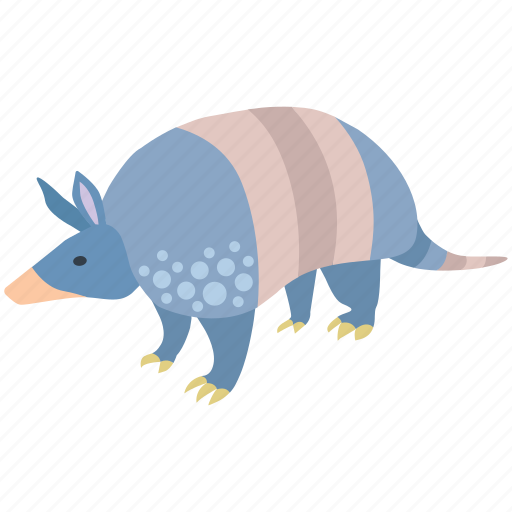 animal, armadillo, armored, banded, mammal, southern icon