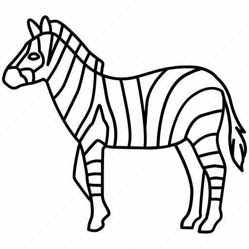 african, horse, plains, safari, striped, stripey, zebra icon