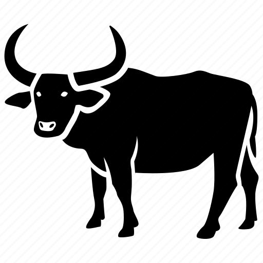 buffalo, bull, cattle, ox, oxen, rodeo, water icon