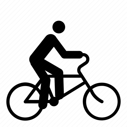 bicycle, bicyclist, bike, bike lane, cycle, cyclist, man icon
