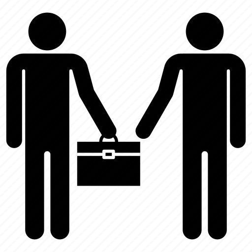 briefcase, business, deal, delivery, man, men, partner icon