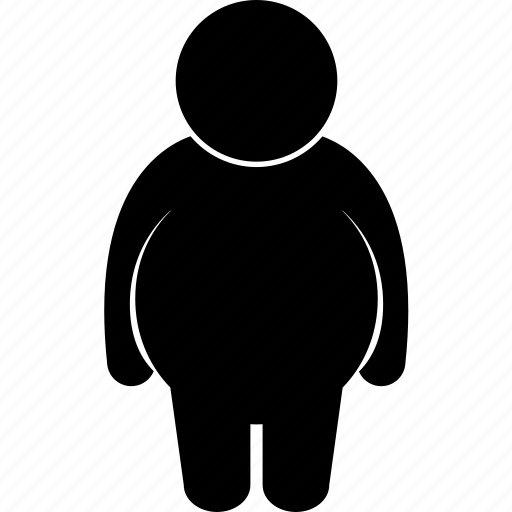 body, different, dwarf, man, obese, short, type icon