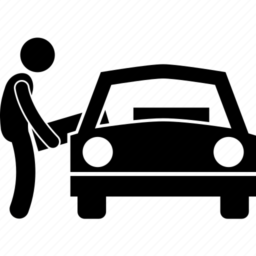 box, car, inside, man, moving, person, putting icon