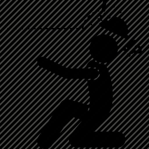 cap, head, headshot, helmet, man, protection, shot icon