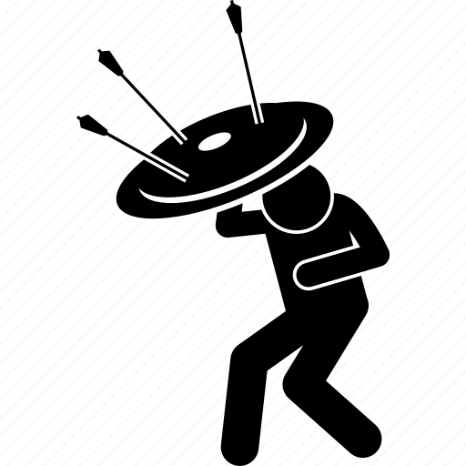 arrow, man, protect, protection, shield icon