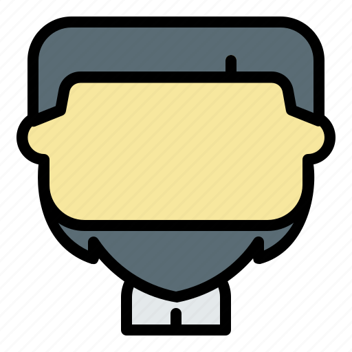 Avatar, chin, curtain, face, male, man, user icon - Download on Iconfinder