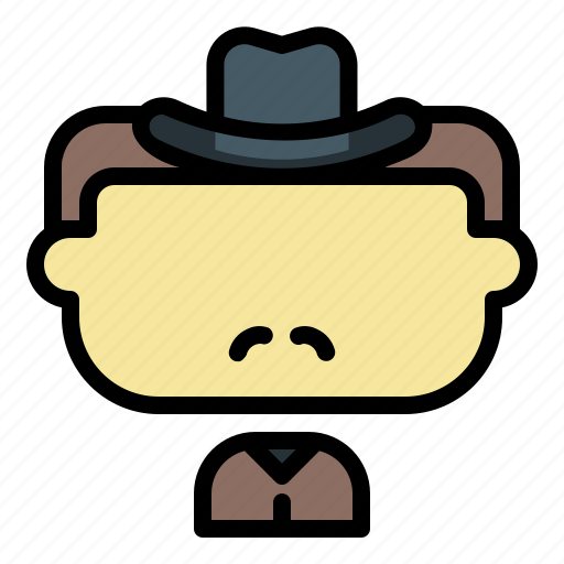 avatar, cowboy, face, male, man, user icon