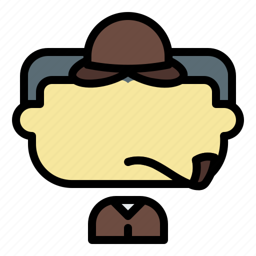 Avatar, detective, face, male, man, user icon - Download on Iconfinder