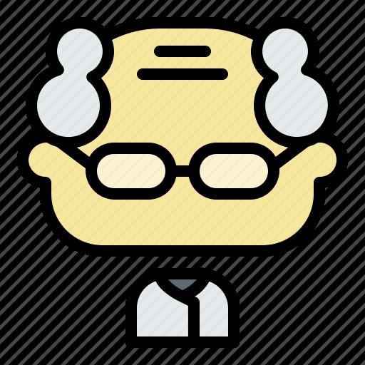 Avatar, face, man, old, oldman, professor, user icon - Download on Iconfinder