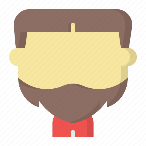 avatar, beard, face, male, man, user icon