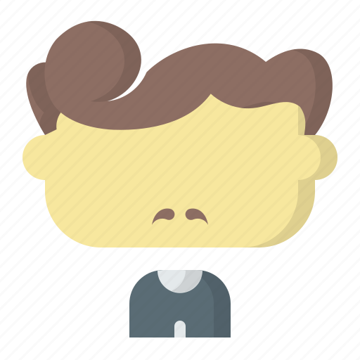 Avatar, combed, face, male, man, over, user icon - Download on Iconfinder