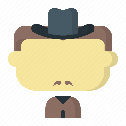 avatar, cowboy, face, male, man, user icon