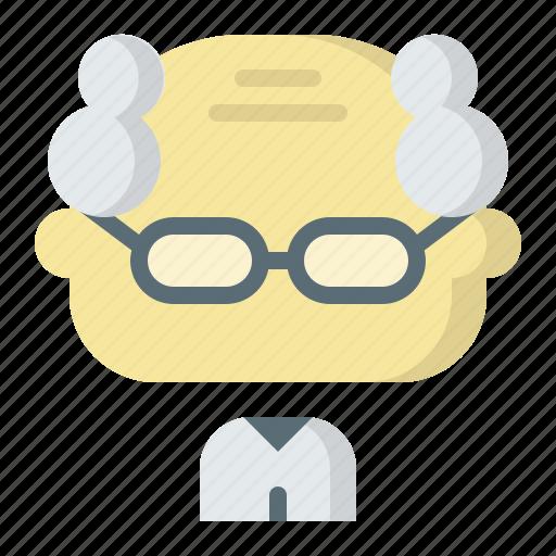avatar, male, man, old, oldman, professor, user icon